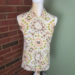 Ann Taylor Factory Sleeveless Collared Blouse